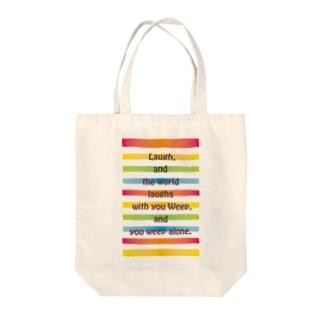 虹に Tote bags