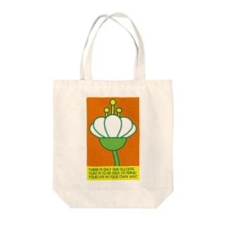 花の横顔 Tote bags