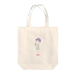 あいすくりーむ Tote bags