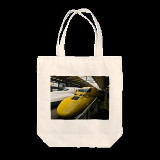 preppのドクターイエロー Tote bags