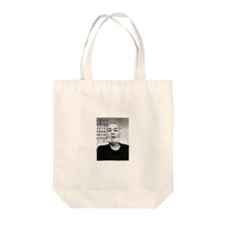ハゲ Tote bags