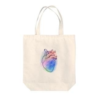 Heart カラフル Tote bags