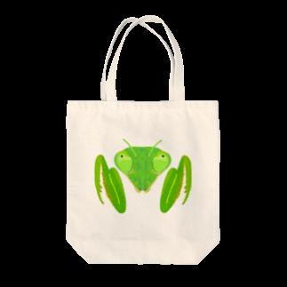 さちこの生き物雑貨のカマキリ Tote bags