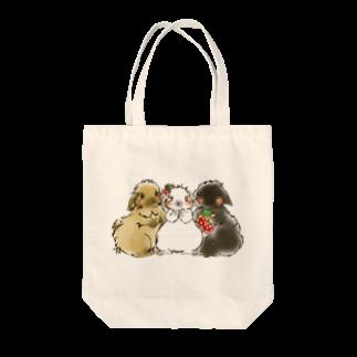 アトリエねぎやまの巨顔サンド Tote bags