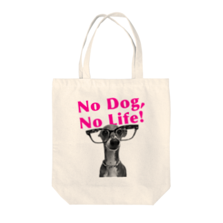 イロハのNo dog,No life! ピンク Tote bags