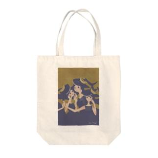 おサメ姫の森〜3sharks Tote bags
