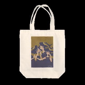 イラストレーター さかたようこのおサメ姫の森〜3sharks Tote bags