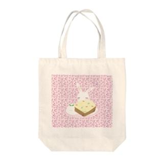 【うさだじょ】ヒョウ柄 Tote bags