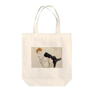 エゴン・シーレ / 1913 / Woman in Black Stockings / Egon Schiele Tote bags