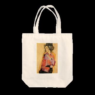 Art Baseのエゴン・シーレ / 1911 / The Daydreamer (Gerti Schiele) / Egon Schiele Tote bags