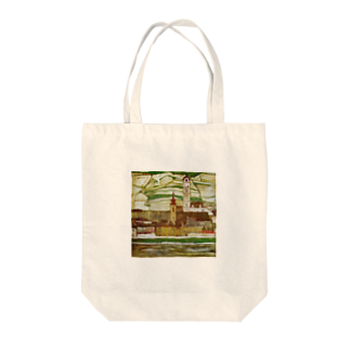 Art Baseのエゴン・シーレ / 1913 /Stein on the Danube, Seen from the South / Egon Schiele Tote bags