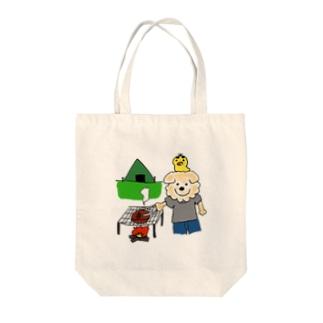 はるやんとぴよまるのBBQ Tote bags