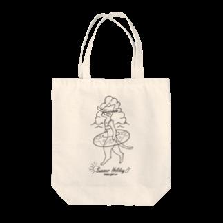 トンガリゴートの夏休みニャンコ Tote bags
