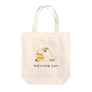 パンケーキ MELTING CAT Tote bags