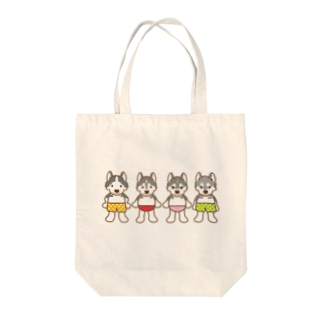 おパンツハスキー4 Tote bags