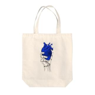 Heart オテテ Tote bags