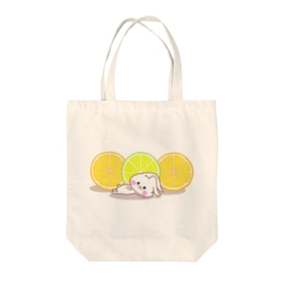 うさころと柑橘フルーツ Tote bags