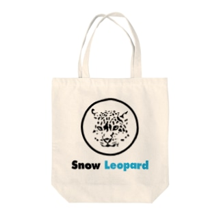 Snow Leopard Tote bags