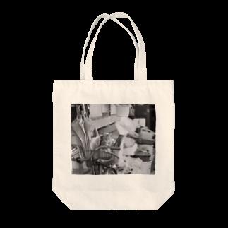 kio photo worksのcat in bicycle Tote bags