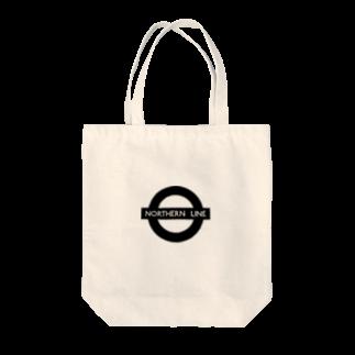 ダブルハピネスのキタラインハピネス Tote bags