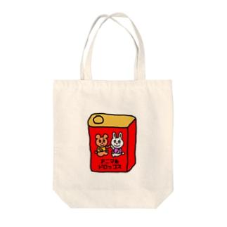 アニマルドロップス Tote bags
