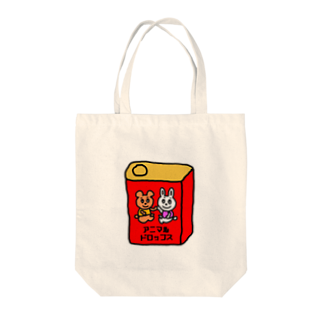 Candy Candyのアニマルドロップス Tote bags