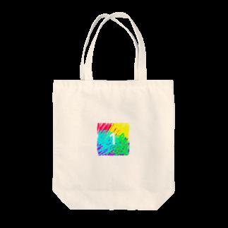 nek_oneの虹色とワン Tote bags