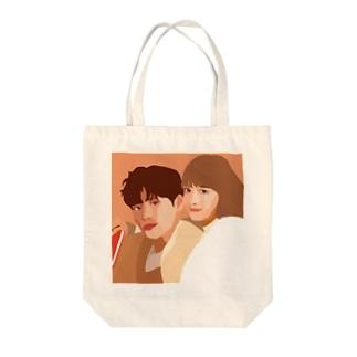 韓国風イラスト Tote bags