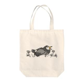 ムクドリの蟻浴 Tote bags