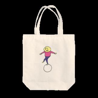 のたのまるに乗る(ピンク) Tote bags