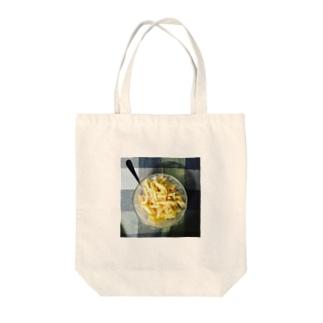 うちの食卓 チーズマカロニ Tote bags