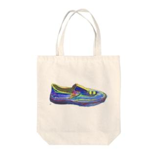 未来への靴 Tote bags