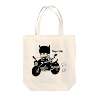 Little devil & motorbike Tote bags