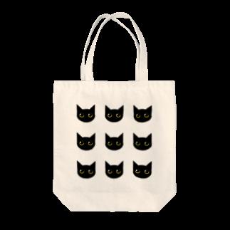 fukumototasukuのまん丸お目目の黒猫9 Tote bags