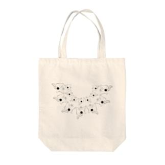 変態モモンガ編隊 Tote bags
