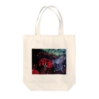 黒揚羽 Tote bags