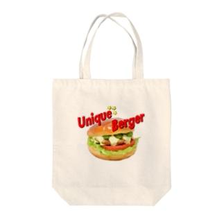 「ハンバーガー」 Tote bags