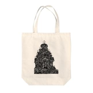 スカイチャーチ Tote bags