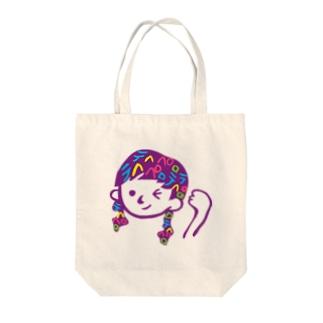 テヘペロちゃん Tote bags