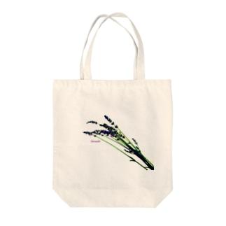 ラベンダー Tote bags