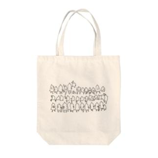 ひとたち Tote bags