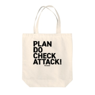 PDCA 白 Tote bags