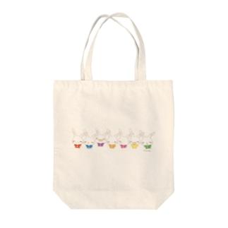 【うさだじょ】虹1 Tote bags