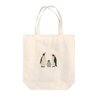 コウテイペンギン家族 Tote bags