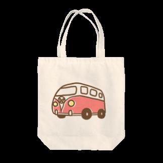 Toma_ganchanの赤バス Tote bags