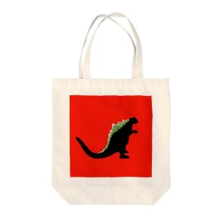 リョウセンモンスター Tote bags