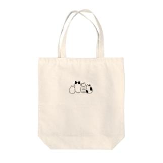 ねこちゃんたち Tote bags