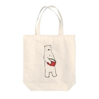 しろくま(スネア) Tote bags