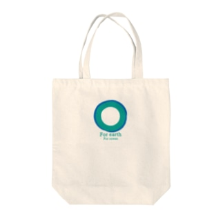 For earth For ocean Tote bags