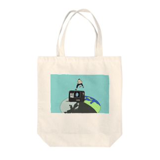 SHOP.もーちょの飛び出せ地球に Tote bags